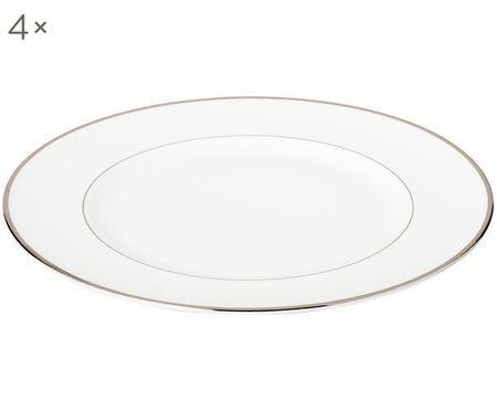 Assiettes plates Signet Platinum, 4pièces