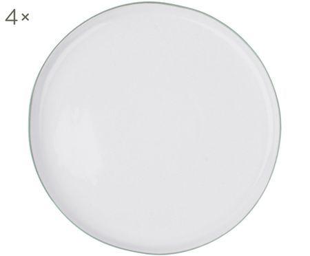 Speiseteller Abysse weiß/grau, 4 Stück