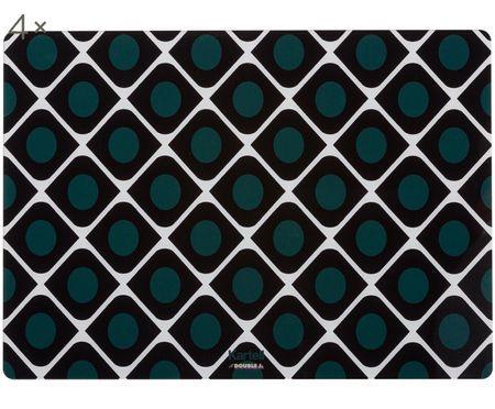 Kunststof placemats L'Americana, 4 stuks