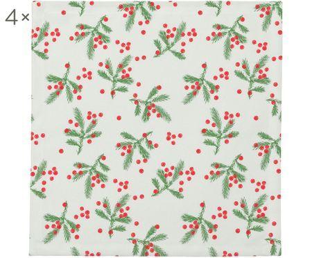 Látkový ubrousek Christmas Berries, 4 ks