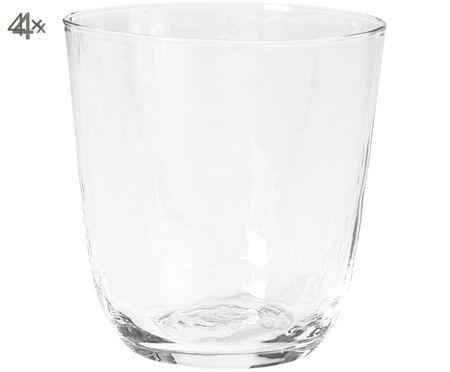 Vasos de agua soplados a mano Hammered, 4pzas.