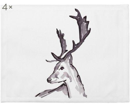 Placemats Ink Deer, 4 stuks