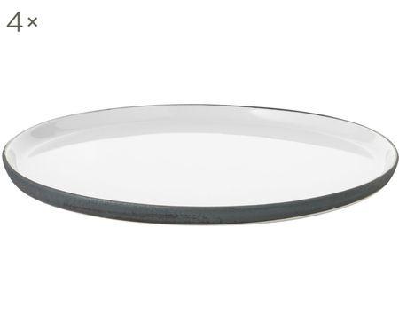 Assiettes plates faites à la main Esrum, 4 pièces
