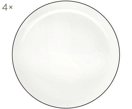 Speiseteller á table ligne noir, 4 Stück