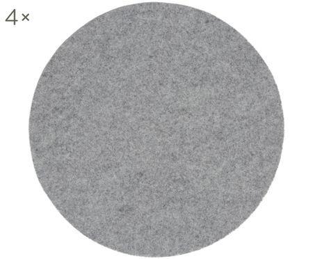 Runde Wollfilz-Tischsets Leandra, 4 Stück