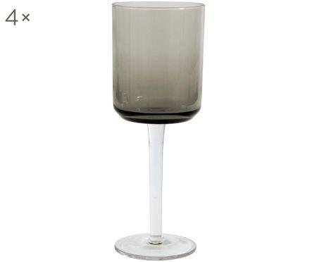 Mundgeblasene Weingläser Retro in quadratischer Form, 4er-Set