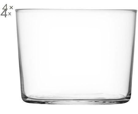 Vasos de agua de vidrio soplado Gio, 4uds.
