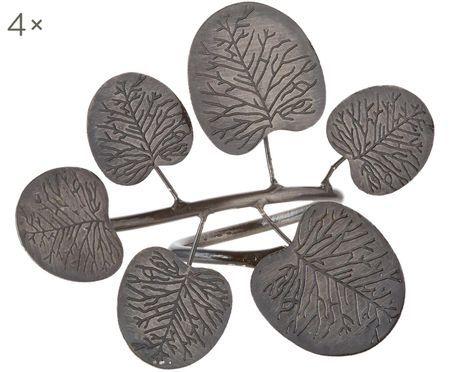 Kroužky na ubrousky Eucalyptus Branch, 4 ks
