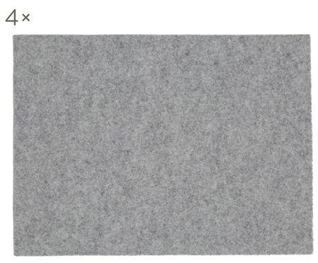 Tovaglietta in feltro di lana Leandra, 4 pz.