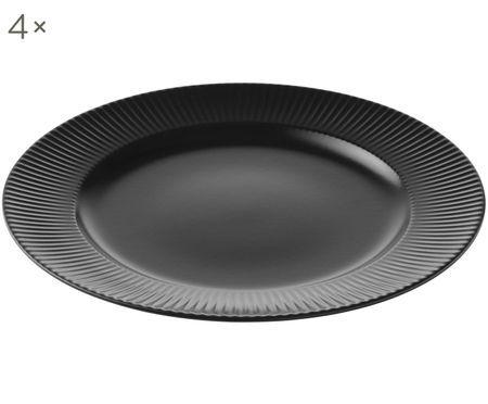Assiettes plates Groove, 4 pièces