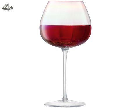 Copas de vino tinto de vidrio soplado Pearl, 4uds.