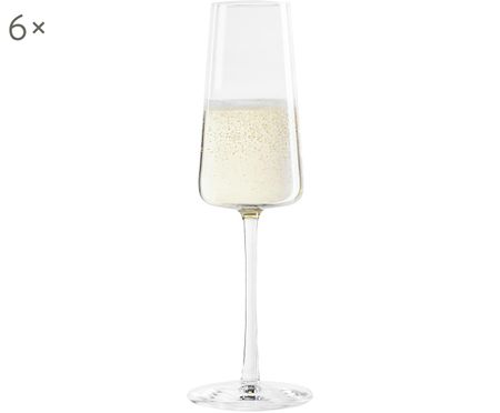 Flute da champagne in cristallo Power, 6 pz.