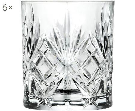 Vasos de whisky de cristal Melodia, 6uds.