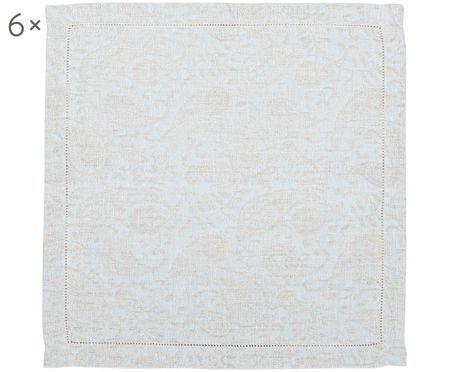 Serviettes de table en lin Agila, 6 pièces