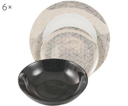 Komplet z porcelany Grande, 18 elem.
