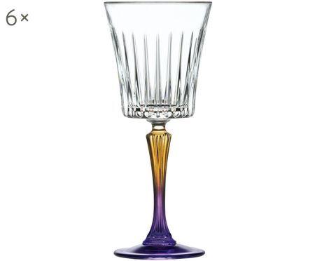 Kristall-Weißweingläser Gipsy mit zweifarbigem Stiel, 6er-Set