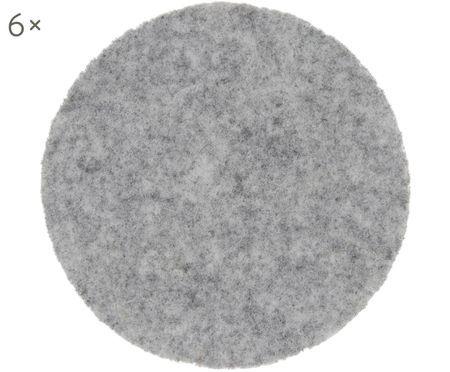 Sous-verres en feutre de laine Leandra, 6pièces