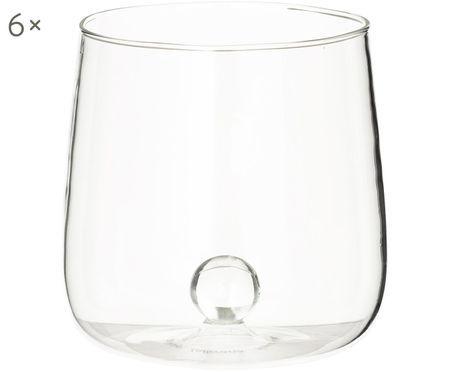 Vasos de agua soplados Bilia, 6uds.