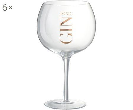 Bicchiere da cocktail gin, 6 pezzi