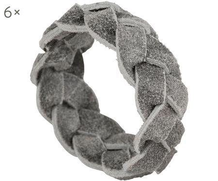 Ronds de serviette de table en cuir Tannri, 6 pièces