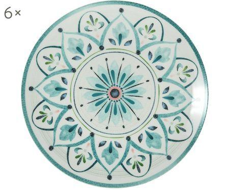 Assiettes plates Pantelleria, 6 pièces