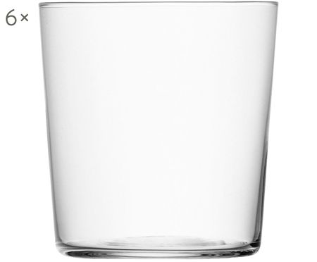 Vasos de agua Gio, 6uds.