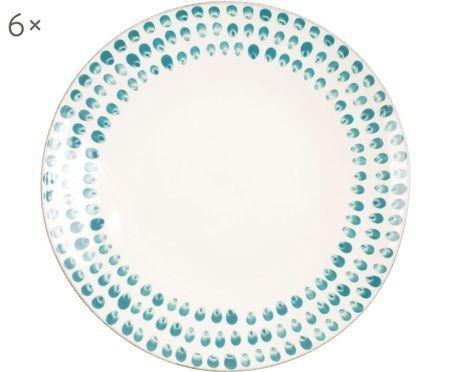 Assiettes plates Taolae, 6 pièces