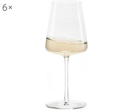 Kryształowy kieliszek do białego wina Power, 6 szt.