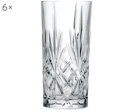 Vasos de cóctel de cristal Melodia, 6uds.