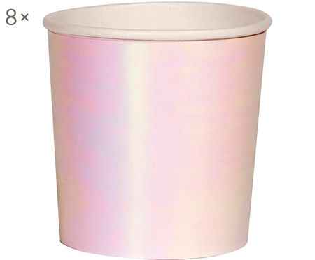 Mugs en papier Iridescent, 8pièces
