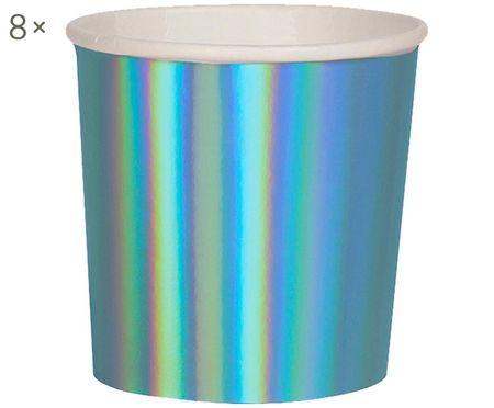 Mugs en papier Metallic, 8pièces