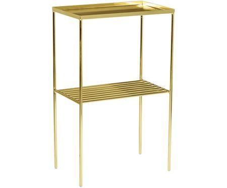Goldener Beistelltisch Grid aus Metall