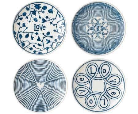 Set de platos de pan Love, 4pzas.