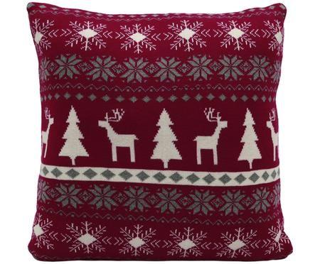 Federa natalizia lavorata a maglia David