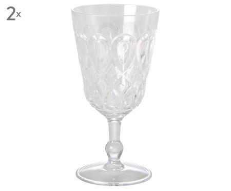 Bicchieri da vino in acrilico Swirly, 2 pz.