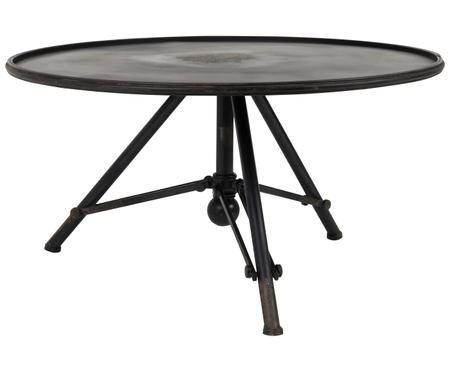 Konferenčný stolík z čierneho železa Brok