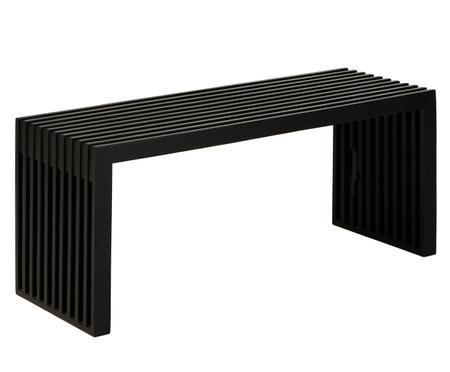 Teakholz-Bank Rib in modernem Design