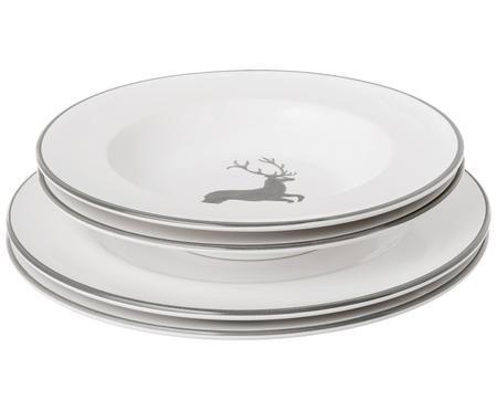 Set di piatti grigiastro Hirsch, 4 pz. (2 persone)