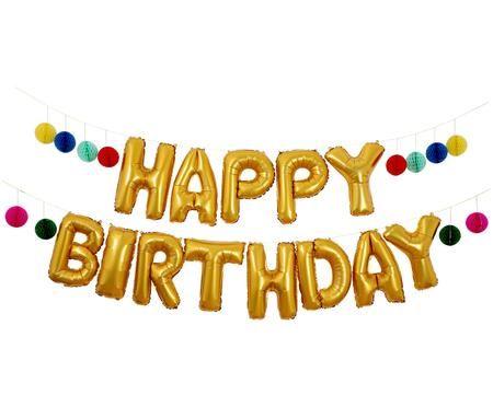 Guirlande ballons Happy Birthday