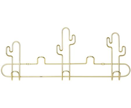 Kovový nástěnný věšák ve zlaté barvě Desert
