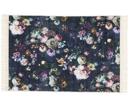 Teppich Fleur mit Blumenmuster und Fransen