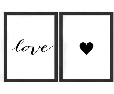 Set di stampa digitale incorniciato Love, 2 pz.
