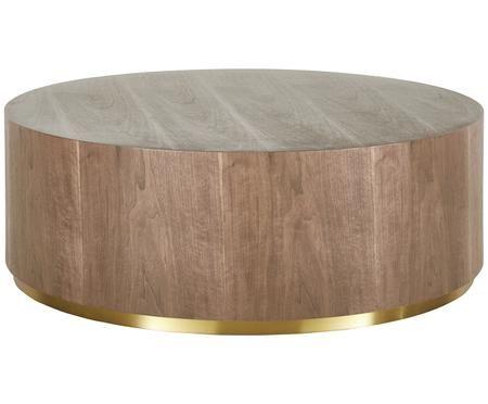 Grande table basse Clarice aux couleurs noyer