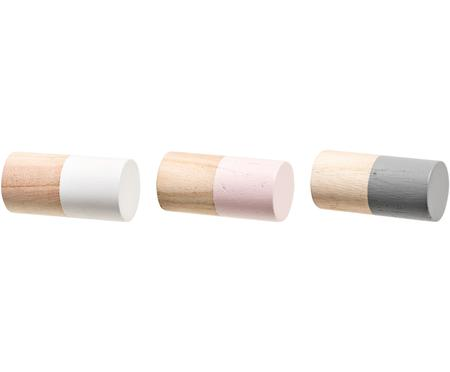 Sada dřevěných nástěnných háčků Mandi, 3díly