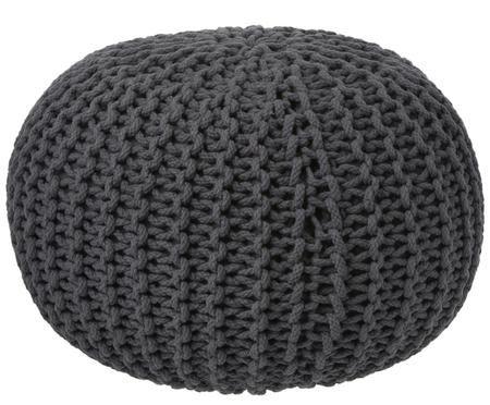 Pouf lavorato a maglia Dori