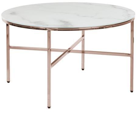 Salontafel Athena met gemarmerd glazen tafelblad