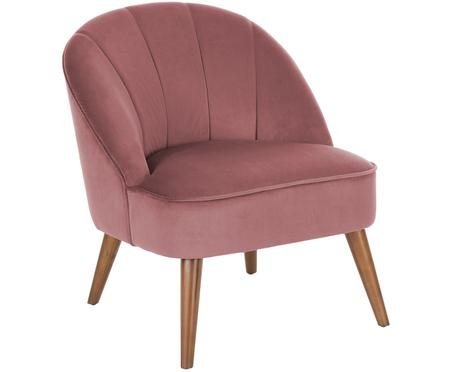 Fotel z aksamitu Aya