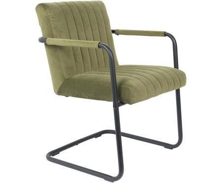 Krzesło podporowe z aksamitu Stitched