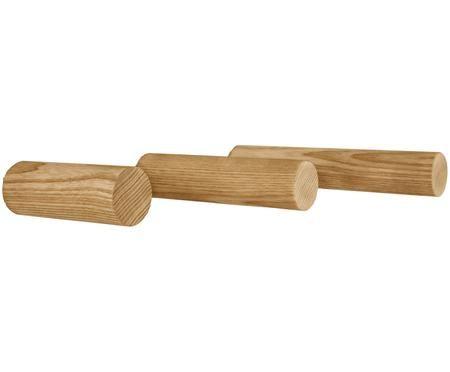 Kleiderhaken-Set Stabs aus Eschenholz, 3-tlg.
