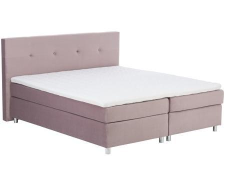 Łóżko kontynentalne z aksamitnym obiciem basic Malta